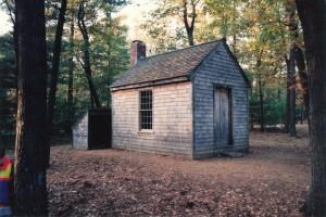 Thoreau's cabin, Walden Pond, Mass.
