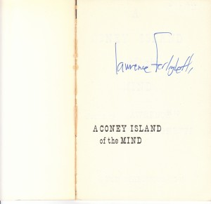 Ferlinghetti signed, 1958 original